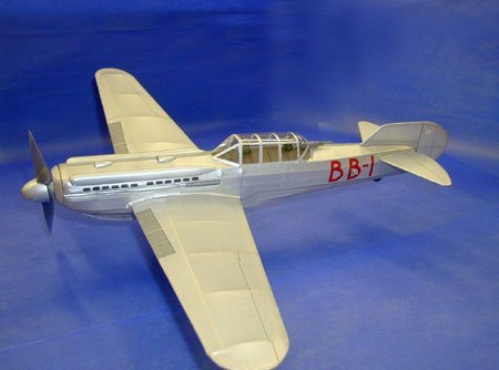 Bill Barnes' Silver Lancer model plane