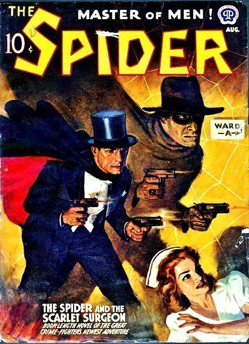SPIDER - August 1941 ''The Spider and the Scarlet Surgeon'' I had to stay with the Doctor theme