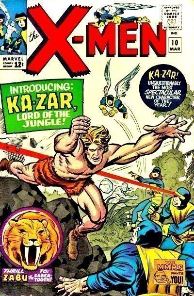 X-MEN #10 1965 (1st Modern KA-ZAR)