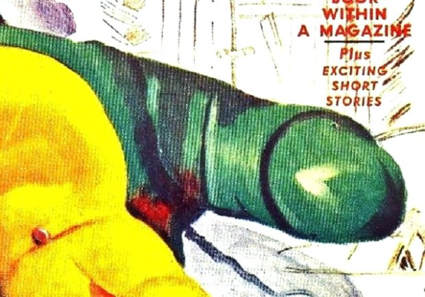 DETECTIVE BOOK - Summer 1943 (Fallic symbol ?)