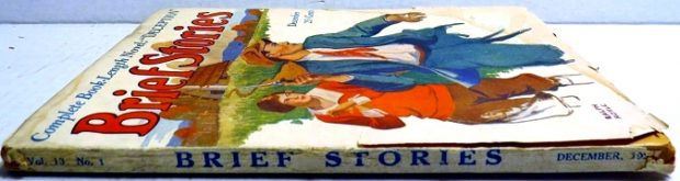 BRIEF STORIES - Dec. 1925 (Dry pages and beat Side Spine)