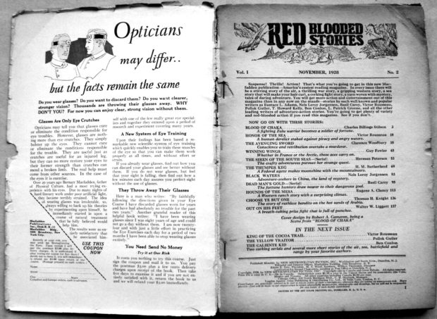 Red Blooded Stories - Nov. 1928 (Inside Spine)
