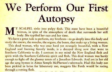 AMERICAN AUTOPSY - Jan. 1932 (Guts)
