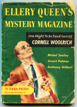 Ellery Queen's Mystery Magazine (December 1955) with Cornell Woolrich