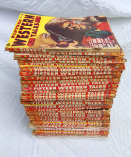 Large Lot of Fifteen Story Western Pulp Magazines