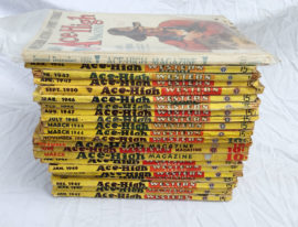 Large Lot of Ace-High Western Pulp Magazines