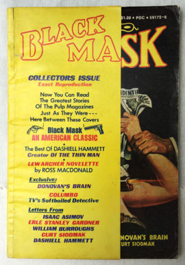 Black Mask Magazine #1 (August 1974) - Publisher's File Copy