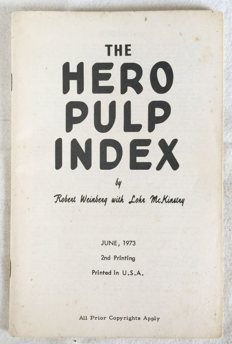 The Hero Pulp Index (Second Printing)