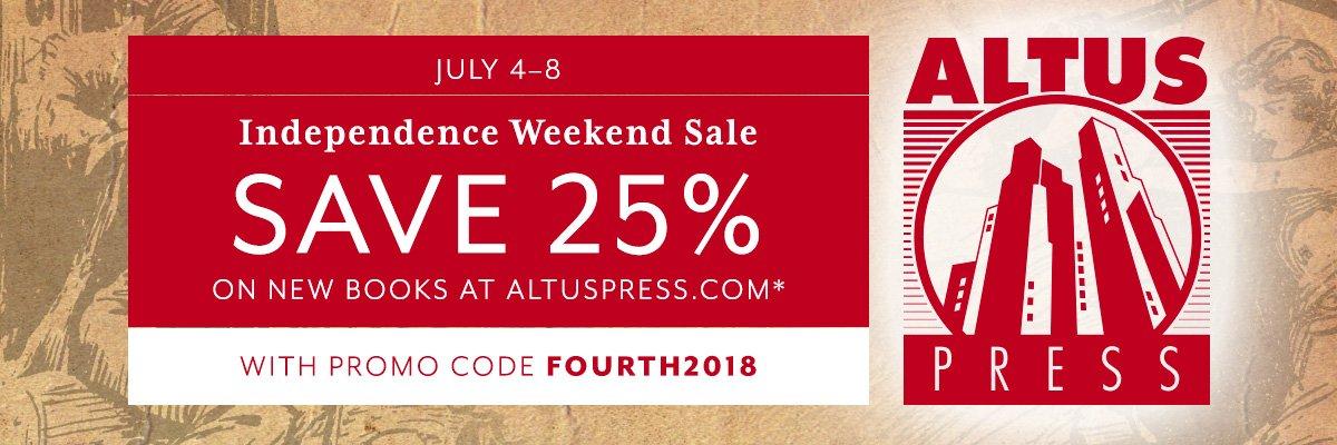 Altus Press Independence Weekend Sale