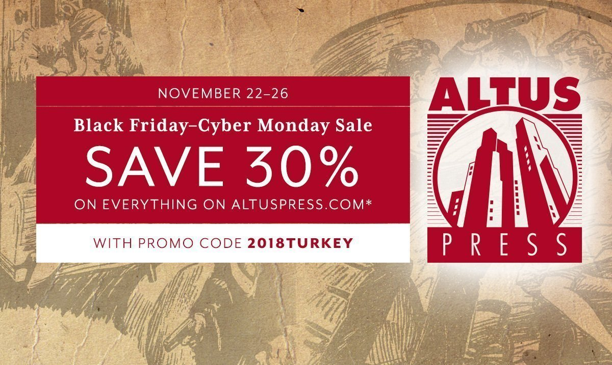 Save 30% This Weekend: The Altus Press Black Friday–Cyber Monday Weekend Sale Is On