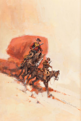 Jerome Podwil Original Painting for Tall for a Texan (Ace Double M-122, 1965)